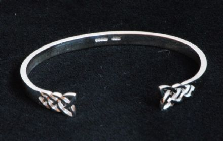 Celtic Knot Sterling Silver Bangle C4
